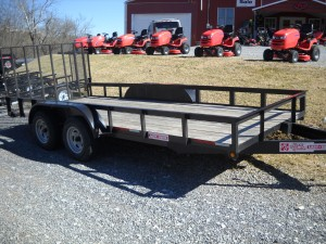 2 AXLE 16 FT. LANDSCAPER TRAILER W/ GATE W/ F Image