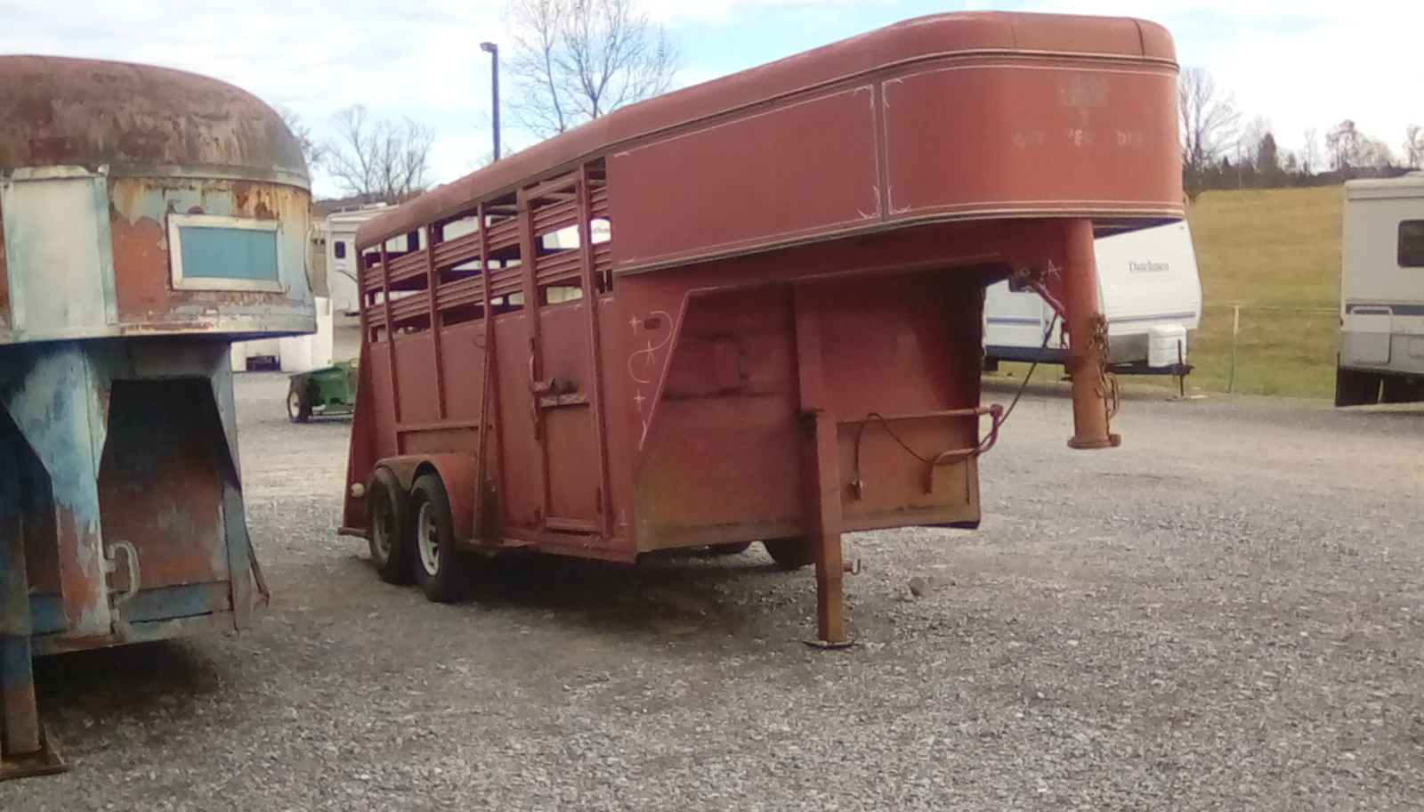 ADAMS RED GOOSE NECK TRAILER 14 FOOT Image