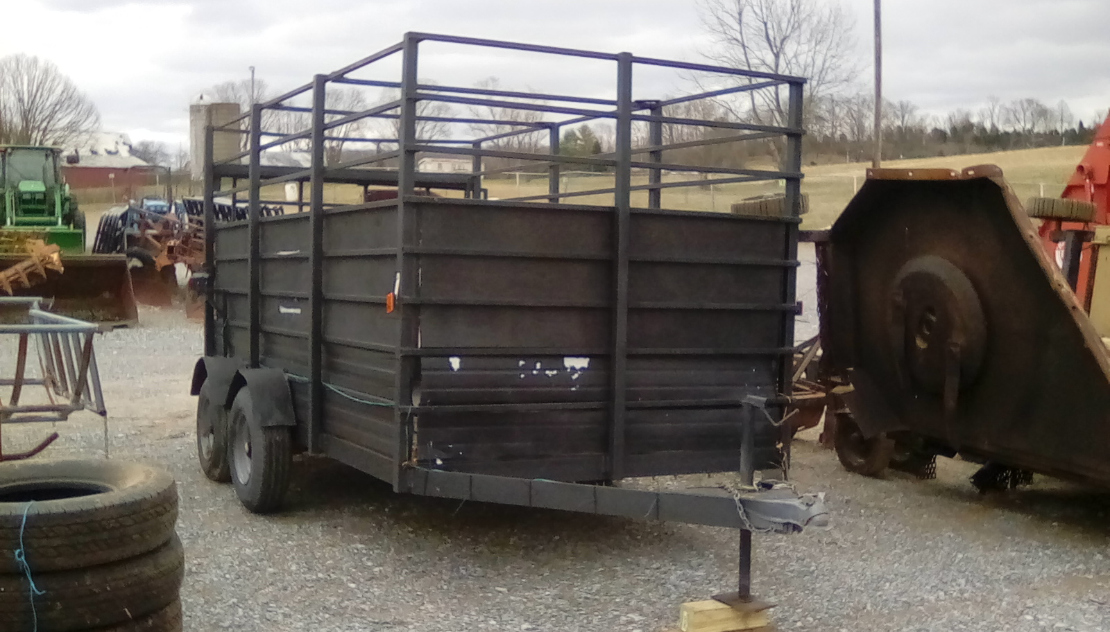 BLACK OPEN TOP TRAILER Image
