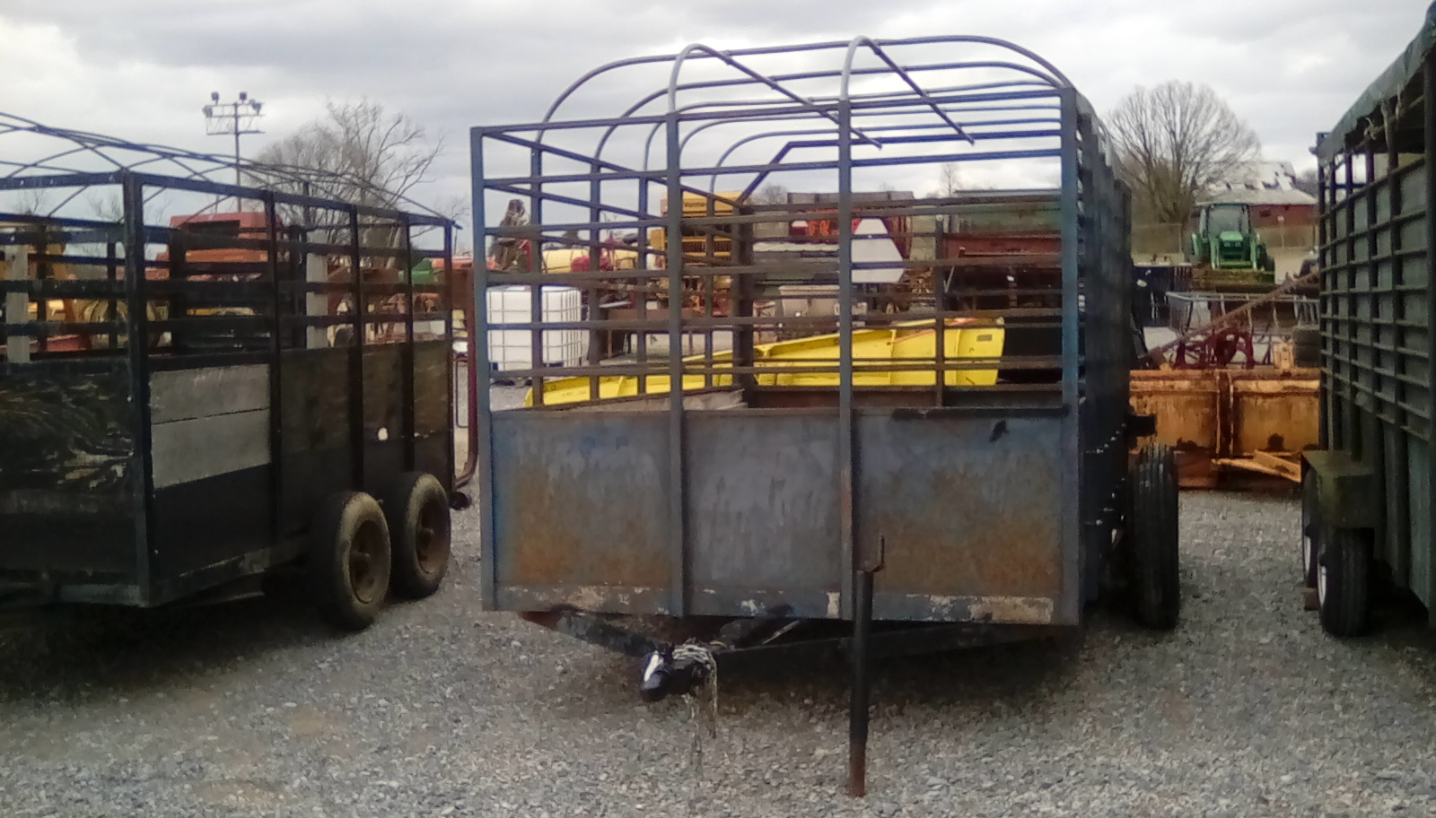 GRAY OPEN TOP TRAILER Image